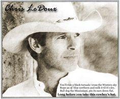 Chris ledoux. This Cowboy's Hat.