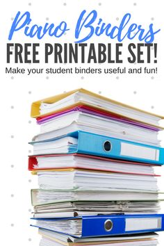 You'll love the piano binder printables we're sharing in today's post. These attractive resources will help your students feel a sense of pride and ownership over their piano lesson materials… which results in organized materials that remain in good shape, get used at home, and always make it back to your studio!