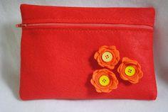 Orangeade Clutch by GeauxCraft on Etsy, $12.00