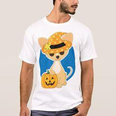 Halloween Chihuahua Mens T-Shirt #halloween #holiday #creepyclothing #fashion #mensclothing