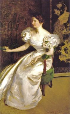 Cecilia Beaux (American painter, 1855-1942) Mrs. Clement B. Newbold 1896