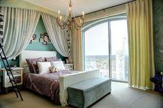 Atlanta -pre teen girls room. Urban elegance