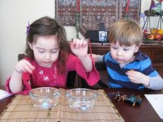 Use up that leftover candy! Valentine's Day Candy Heart Science Experiment