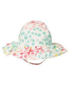 Ruffle Dot Sun Hat