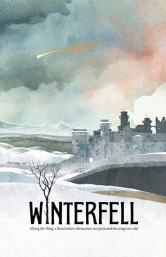 Game of Thrones Poster Winterfell Travel by TheGreenDragonInn, $16.00