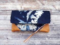 etsy find // handmade: the constellation leather and canvas clutch by scoutandcatalogue, $68 - discovered via @never not.
