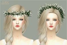 Female Flower Leaf Headband The Sims 4 _ - The Sims 4 Love Life Asia VietNam Sims 4 Teen, Sims Four, Sims Cc, Sims 4 Mods, Maxis, Sims 4 Wedding Dress, Marigold Sims 4, Sims 4 Anime, Sims 4 Cc Makeup