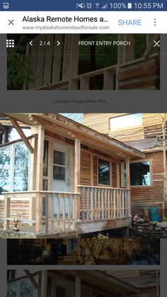 Alaska Homestead, Front Entry, Homesteading, Remote, Pergola, Porch, Outdoor Structures, Balcony, Porches