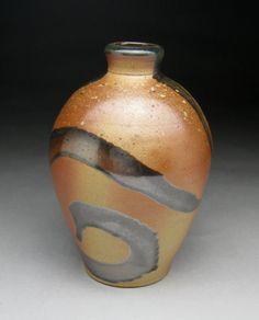 Wood Fired Salt Glazed Bottle by meeshspottery on Etsy, $30.00