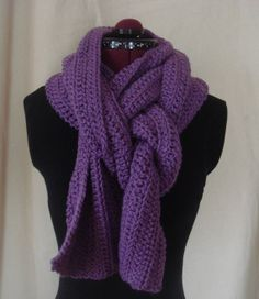 Handmade Crochet Scarf by BFCouture on Etsy, $45.00
