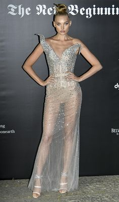 aea87093e11 Celebrities Took Naked Dresses to a New Level During Milan Fashion Week. Ashley  GrahamAlessandra ...