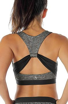 c5369426f6 icyzone Workout Yoga Clothes Activewear Moving Comfortable Racerback Sports  Bras(M