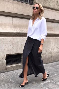 Black and white minimalistic outfit for spring or summer #ootd