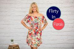 You'll feel like you're dressed in flowers in this vibrant dress! It's such a beautiful way to celebrate the last days of summer!