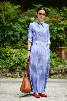 【ELLE】シャツドレスは、マキシ丈でモード感を加速|先取り! この夏流行るリアルトレンドBEST5 【vol.1】|エル・オンライン