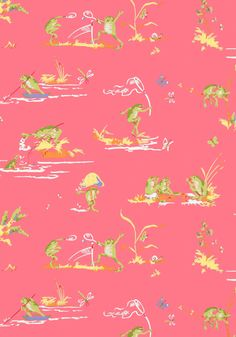 RESORT FROGS, Pink, T16063, Collection Resort from Thibaut