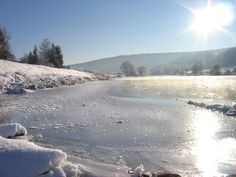 Weser im Winter