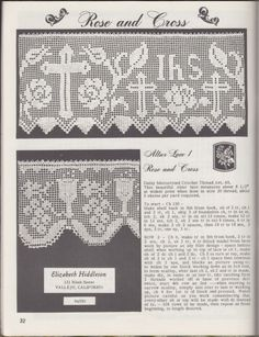 Bordes: Ganchillo por Elizabeth hiddleson: volumen 15 (aprox. 1970s) Ribete ~ altar Laces