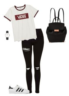 """""""Unbenannt #480"""" by sina5439 ❤ liked on Polyvore featuring Topshop, Vans, adidas, Alexander Wang and Daniel Wellington"""