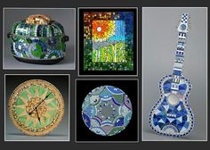 Nancy Keating of Mosaics Garden teaches glass on glass mosaic classes (and other mosaic classes) using No Days Mosaic Adhesive in Indiana