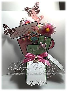 My first attempt at making a card in a box. Created by Sharon Keanly