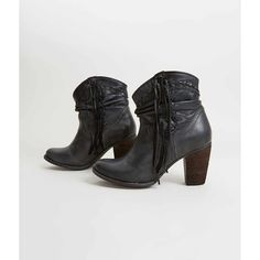 Naughty Monkey Noe Ankle Boot - Black US 10-1/2 ($82) ❤ liked on Polyvore featuring shoes, boots, ankle booties, black, ankle boots, black booties, fringe booties, leather booties and black fringe boots