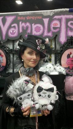 G-Ra the creator of #Vamplets. #SDCC #SDCC2012 #ComicCon #VamPets #Plush