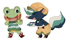 gay frog and kicks. Animal Crossing Fan Art, Animal Crossing Memes, Animal Crossing Characters, Animal Crossing Villagers, Ac New Leaf, Ghibli, Cute Games, Cute Illustration, Cute Art