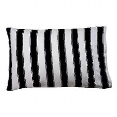 Sin in Linen Black and White Striped Pillowcases