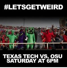 Best costume at the Texas Tech game will receive $1,000, 2nd Place $500 and 3rd Place will get $250! #WreckEm #LetsGetWeird #WreckOSU #Unity #TTUFootball