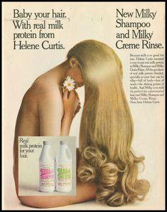 1969 vintage ad for Helene Curtiss Milk Shampoo