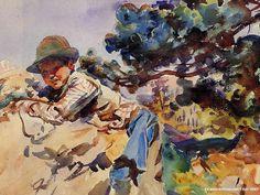 John Singer Sargent - Boy on A Rock, 1909
