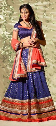 VILLAGE BELLE -look like one in this Indian skirt. Like?  #IndianWedding #Bridalwear #Lehenga #Purple #Banarasi #Lace