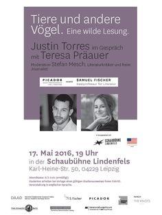 #Reading with Picador Guest Professor Justin Torres and Samuel Fischer Guest Professor Teresa Präauer in #Leipzig at Schaubühne Lindenfels.