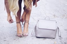 Lace-up Sandal Heels
