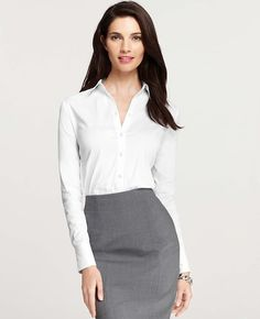 Ann Taylor - AT Blouses Tops - Perfect Long Sleeve Button Down Shirt