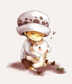 Baby Trafalgar Law and Bepo #one piece