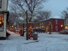 Main Street Nantucket at Christmas