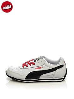 Puma Herren Sneaker Court Star SD 364581  42 EUPuma Black-puma White-gold