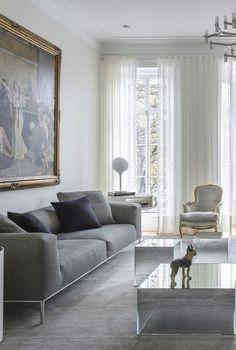 Einrichtungsideen neutralen farben modern  Wohnzimmer-Einrichtung (Interior Design) in den neutralen Farben ...