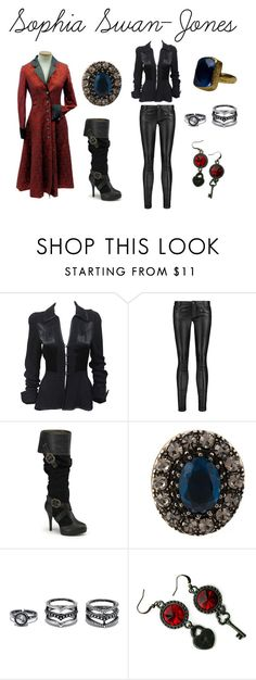 """""""Daughter of Captain Hook and Emma Swan"""" by dancenola ❤ liked on Polyvore featuring Ossie Clark, Maje, Alexander McQueen, Lulu*s and Nilufer Tarzi Kuran"""