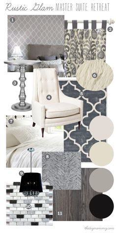 Mood Board: Rustic Glam Master Suite Retreat - Our DIY House by The DIY Mommy:
