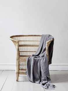 French-African wicker chair, hand made. Dimensions may vary slightly from chair to chair. Baby Alpaca, Cane Sofa, Cane Chairs, Wicker Chairs, Rattan, Interior Styling, Interior Design, Paint Your House, Traditional Chairs