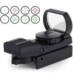 11mm / 20mm Rail Riflescope Hunting Airsoft Optics Scope Holographic Red Dot Sight Reflex 4 Reticle Tactical Gun Accessories