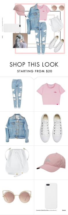 """cute"" by leeshirra on Polyvore featuring Topshop, Converse, adidas and MANGO"