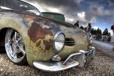 karmann ghia with patina Fancy Cars, Retro Cars, Cool Cars, Volkswagen Karmann Ghia, Vw Rat Rod, Rat Look, Combi Vw, Vw Vintage, Vw Cars