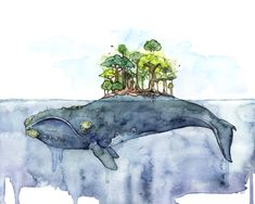 "If you love watercolor and you can't get enough of whales, you'll want to check out these fine art prints by Rachel Byler. The Pennsylvania-based artists creates lovely paintings of whales playing just under the surface of the water. Byler states why she loves to work with watercolor on her website, ""Although I love all …"