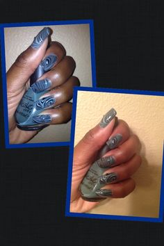 Water marble Sunday! Nicole-green up your act Finger paints--black expressionism China glaze--kinetic candy