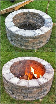 Old bricks projects for your backyard. Looking for things to do with old bricks? There are a lot of beautiful DIY backyard projects can be finished with Brick Projects, Diy Projects Cans, Backyard Projects, Upcycling Projects, Fire Pit Ring, Diy Fire Pit, Fire Pit Backyard, Fire Pits, Gardens