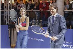 Rafa Nadal plays tennis at exo in Germany
